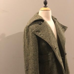 GUESS Tweed Pea Coat Jacket Trench Coat Vintage